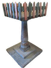 New ListingRare Wooden Christmas Feather Tree Fence Stand Alone Table, c.1900 Antique, Vint