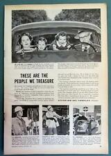 1950 Standard Oil Ad Photo Endorsed L A Langley Family of Fon Du Lac Wisconsin
