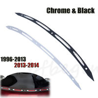 Aluminum Slotted Windshield Windscreen Trim For Harley-Davidson Touring 96-2013