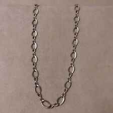 "Sterling Silver Toggle Chain Necklace  17"" Long"