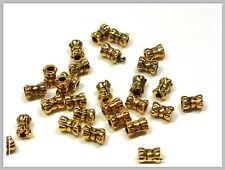 30 Metallperlen gold Schleife 5*3mm Perlen goldfarben