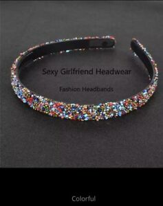 Simulated Crystal Pear Rhinestones Luxury Hair Accessories Hairbands Sparkly