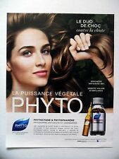 PUBLICITE-ADVERTISING :  PHYTO Phytocyane Phytophanère  2015 Coiffure