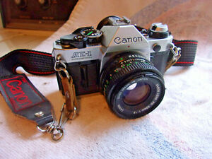 Canon AE-1 35mm Film Camera w/ 50mm 1:1.8 lens Nice Estate Find