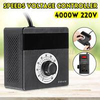 AC 220V 4000W Variable Voltage Controller for Light Fan Speeds TEM Motor   *New