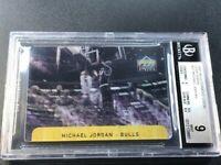 MICHAEL JORDAN 1997 UPPER DECK DIAMOND VISION #D1 DUNK VISION INSERT MINT BGS 9