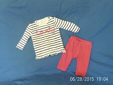 Cotton Blend Striped Outfits & Sets (0-24 Months) for Girls