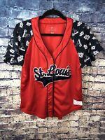 MLB Genuine Merch⚾️St.Louis Cardinals Red/Navy Baseball Jersey Size M🔥Free Ship