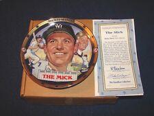 Mickey Mantle Yankees Hof Hamilton Collection The Mick 23K Rim Plate (18Xx)