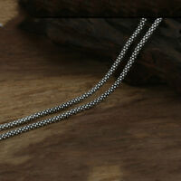 """Real Solid 925 Sterling Silver Necklace Chain Corn Men's 18""""-32"""""""
