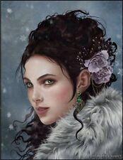 Nene Thomas Early Snow Fairy Faery Limited Edition Print Signed Lavendar Rose
