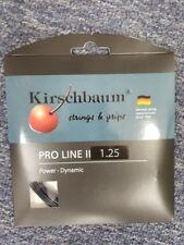 Kirschbaum Pro Line II Black 17 Gauge 1.25mm Tennis String NEW