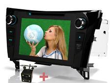 "Per Nissan Qashqai X-Trail Telecamera posteriore 8"" Autoradio DVD Navigazione BT"