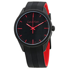 Calvin Klein Color Black Dial Black Silicone Mens Watch K5E51TB1