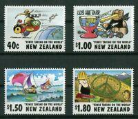New Zealand 1472 - 1475 MNH Cartoonists Kiwis Taking on the World 1997
