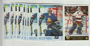 (10) card Jocelyn Thibault rookie lot, Chicago Blackhawks star