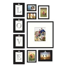 10-Piece Picture Photo Frame Set Love Or Home Collage Gallery Wall Art Decor