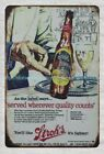 Served Wherever Quality Counts Stroh's beer metal tin sign unique wall art