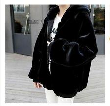 Ladies Women Faux Fur Hoodie Coat Jacket Winter Warm Loose Outerwear Fashion New