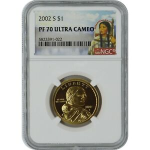 2002-S Sacagawea Proof Coin NGC PF70 Ultra Cameo Sacagawea Label