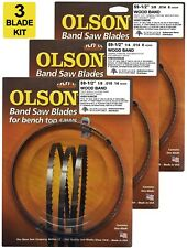 "Olson Band Saw Blades 59-1/2"" inch x 1/8"",1/4"" & 3/8"", for 9"" Delta, Ryobi, Skil"