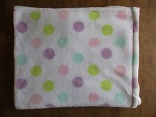 BABY GEAR White Polka Pastel Dot DOTS Baby Security BLANKEt Pink Green Purple