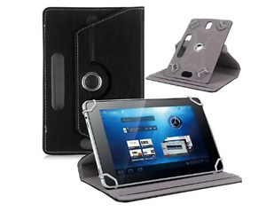 """Black 360 Folio Leather Case Cover For Universal Android Tablet PC 7"""" 8"""" 9"""" 10"""""""