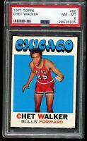1971-1972 Topps Basketball #66 CHET WALKER Chicago Bulls PSA 8 NM-MT