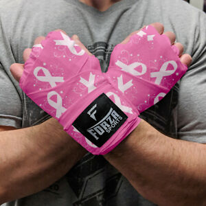 """Forza Sports 180"""" Mexican Style Boxing & MMA Handwraps - Breast Cancer Awareness"""