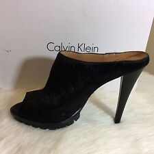 Calvin Klien Lina Shoes. Hair Calf/Cow Silk. Black. Size 9