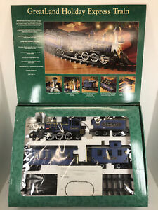 BROKEN TRACK GreatLand Holiday Express Train G Scale BLUE CIB WORKS New Bright