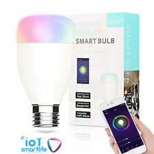 7W B22/E27 Smart Bulb Wireless WiFi APP RGB Dimmable LED Lamp Alexa Google Home