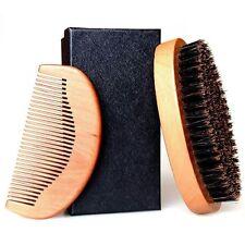 Beard Brush, Raniaco Round Hair Brush and Handmade Mustache Comb Kit with Boar