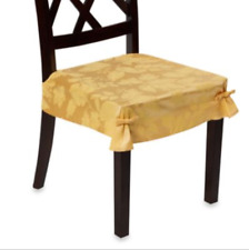 Autumn Scroll Damask Seat Cover in Gold