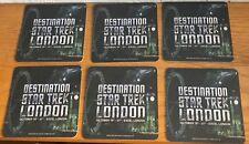DESTINATION STAR TREK 3 CONVENTION LONDON CARD DRINKS COASTERS X 6 NEW