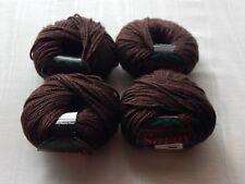 Tahki Yarns Savoy Brown Silk & Merino Wool Yarn 4 Skeins Color 03 Dye Lot 30