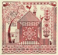 Counted Cross Stitch Embroidery Kit Home Amulet Sampler Panna Manufacture