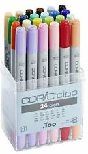 COPIC CIAO PENS 24 SET - MANGA GRAPHIC ARTS + CRAFT MARKERS - FAST SHIPPING