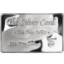1 oz Pyromet - The Silver Card - 999+ Fine Silver - Fits in wallet