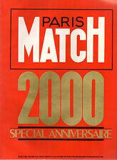 paris match n°2000 special anniversaire     1987