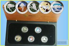 2012 Discover Australia, 5 Coin Coloured 1/10oz. Platinum Proof Set