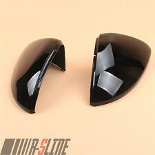 Fit VW Golf 7 MK7 VII e-Golf 14-18 Rearview Mirror Covers Caps Black Left+Right