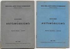 1951-52 CARNET DE BORD DE L'AUTOMOBILE école Unique cadets de Complément