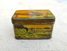 1920 Vintage Old Rare Thacker's No.606 Ink Tablets World Monuments Litho Tin Box