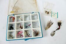 Vintage Fly Fishing Flies Lures Bait Rare Old w/ Case Mc Ginty Size 14