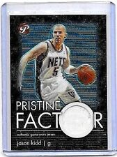 JASON KIDD 2003-04 TOPPS PRISTINE FACTOR GAME USED JERSEY- NETS