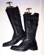 Rieker Leather Calf Length Riding Style Boots Ladies UK 6 Full Zip