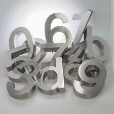 3Dm Hausnummer Edelstahl rostfrei & wetterfest alle Zahlen 20 cm groß Buchstaben
