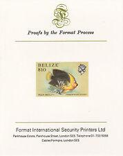 Belize 5118 - 1984 MARINE LIFE $10  imperf on Format International PROOF  CARD