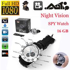 1080P HD 16G Waterproof U-SPY Camera Watch IR Night shoot Hidden DVR DV AU Stock